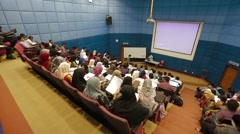 High Angle Shot of Students Inside Lecture Hall in Allianze University, Penang Stock Footage