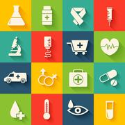 Retro set of medical equpment backgrounds Stock Illustration