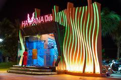 Nigth club in Nha Trang, Vietnam Stock Photos