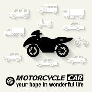 Flat bike background illustration concept - stock illustration
