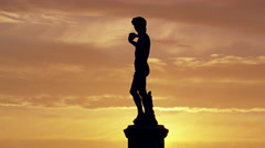 David Statue at Piazzale Michelangelo Florence, Italy 4K Stock Video Footage Stock Footage