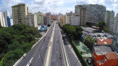 Aerial View of Minhocao in Sao Paulo, Brazil Stock Footage