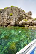 Asia in the  kho phangan isles bay   rocks   swimming Stock Photos