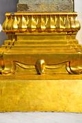pavement gold    temple   in    column  incision of the temple - stock photo