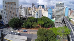Aerial View of the big city of Sao Paulo, Brazil Stock Footage
