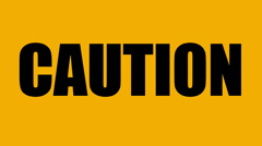 Caution risk of fire, highly flammable material. - stock footage