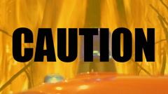 Stock Video Footage of Caution risk of fire, highly flammable material.