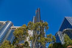 Melbourne Eureka tower Stock Photos