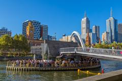 Melbourne Southbank Footbridge Stock Photos