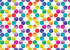 Hexagon pattern Stock Illustration