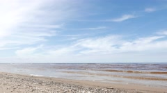 Seascape, Baltic Sea, Spring Stock Footage