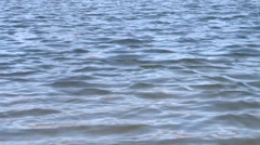 Quiet blue waves - stock footage