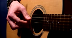 Playing acoustic guitar 6 Stock Footage
