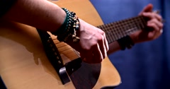 Playing acoustic guitar 5 Stock Footage