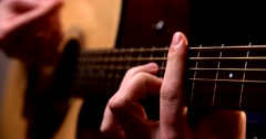 Playing acoustic guitar 4 Stock Footage
