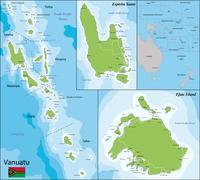 Vanuatu map Stock Illustration