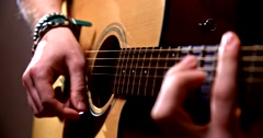 Playing acoustic guitar Arkistovideo
