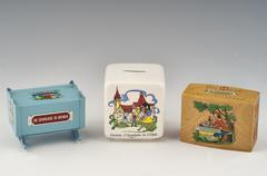 Stock Photo of money box and piggybank
