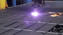 Laser Cutting Machine Technology Stock Footage