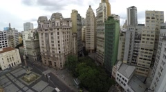 Aerial View of Patio do Colegio in Sao Paulo, Brazil Stock Footage