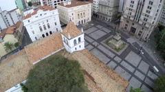 Stock Video Footage of Aerial View of Patio do Colegio in Sao Paulo, Brazil