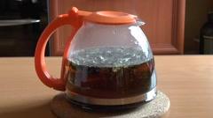 Brewing tea Stock Footage