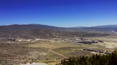 UHD high angle view of northern Park City, Utah. Stock Footage