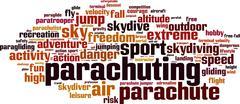 Parachuting word cloud Stock Illustration