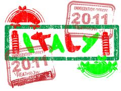 Immigration Stamp - Italy Stock Illustration