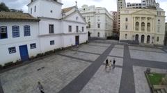 Aerial View of Patio do Colegio in Sao Paulo, Brazil - stock footage