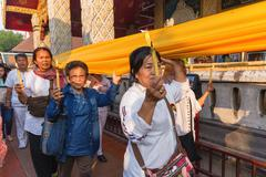 Buddhist sacred procession Stock Photos