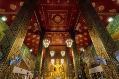 Wat Phra That Hariphunchai temple Stock Photos