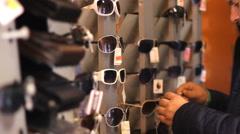 Sunglasses Shop Stock Footage