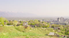 4K Utah State Capitol - Salt Lake City - Pan Color Corrected Stock Footage