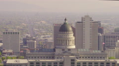 4K Utah State Capitol - Salt Lake City - CU -Color Corrected Stock Footage