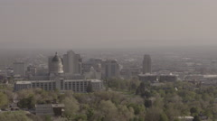 4K Utah State Capitol - Salt Lake City - Wide SLOG - stock footage