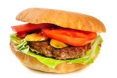 Realistic looking hamburger Stock Photos