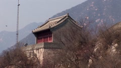 Temple Great Wall of China Stock Footage
