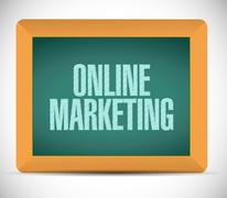 online marketing approval sign - stock illustration