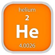 Helium material sign - stock photo