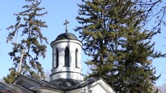 Dome of church in orthodox monastery Stock Footage