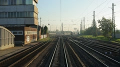 Railway journey point of view - stock footage