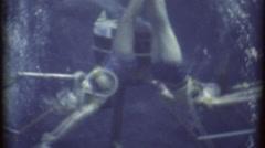 Girls Swim Ballet Underwater Mermaids 1960s Vintage Retro Film Home Movie 8186 Stock Footage
