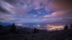Time lapse of cloudy night at Osoyoos Stock Footage