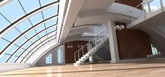 Architect's loft - stock illustration