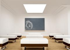 Chalk drawing on a lecture room - stock illustration