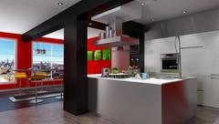 Magnificent urban designer kitchen Stock Illustration
