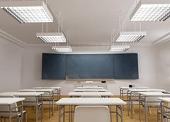 Frontal view of a Classroom Stock Illustration