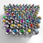 Aerosol cans arrangement - stock photo