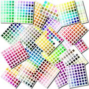 Color swatches collage - stock illustration